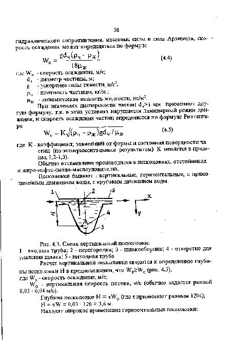 песколовки, Схема