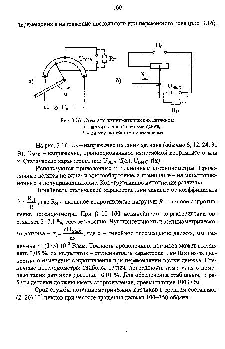Схемы потенциометрических