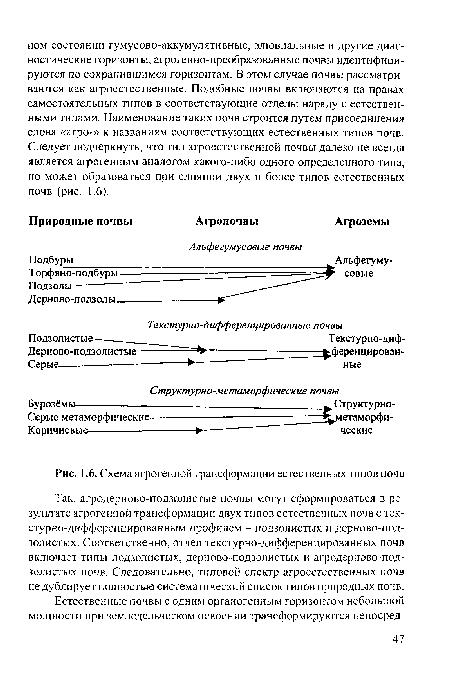 почв · Схема агрогенной