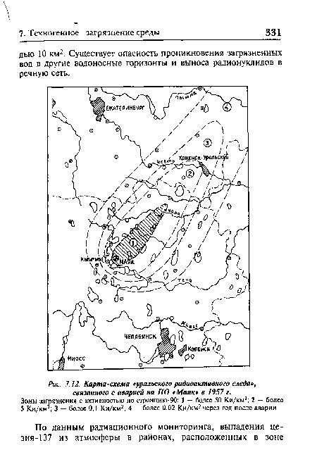 Карта-схема «уральского