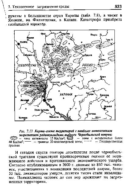 Схема чернобыльской