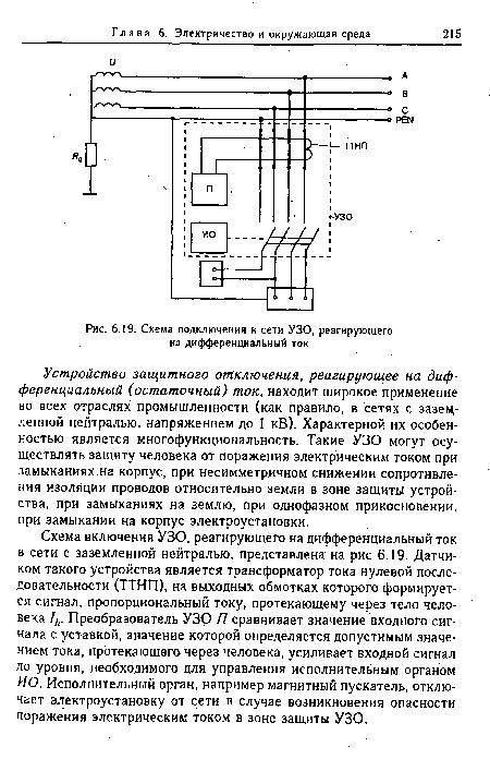 ток · Схема подключения к