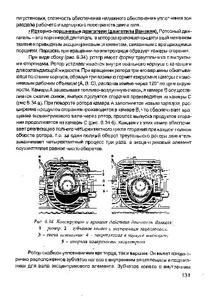 действия двигателя Ванкеля