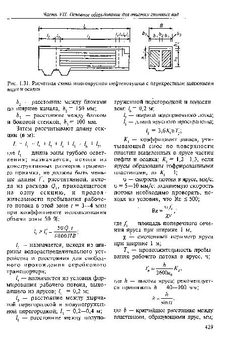 Расчетная схема многоярусной