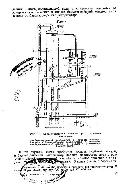 Барометрический конденсатор с