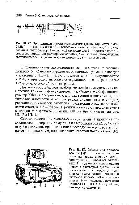 фотоколориметра КФК-2 [3]