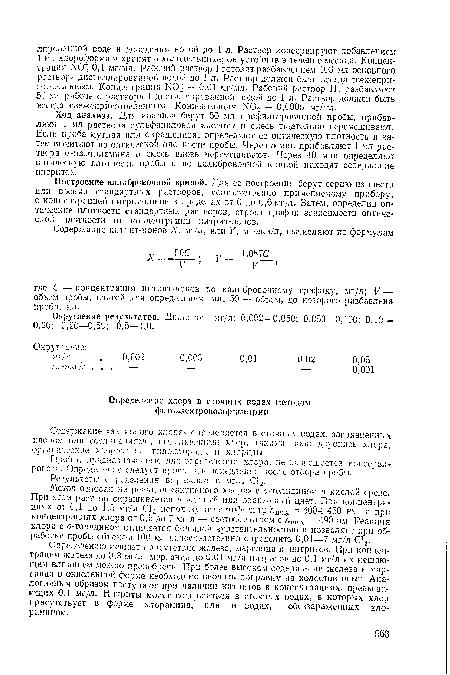Хлоридов в сточной воде на спектрофотометре