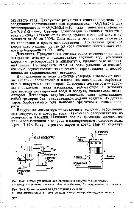 Схема установки для отдувки