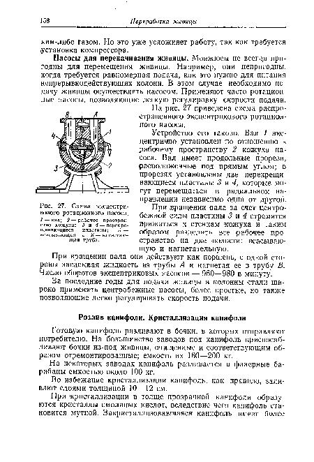 Схема эксцентрикового