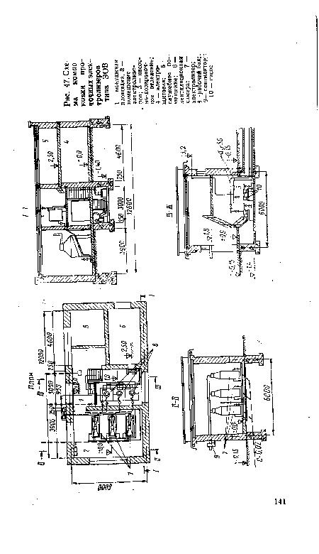 Схема компоновки проточных