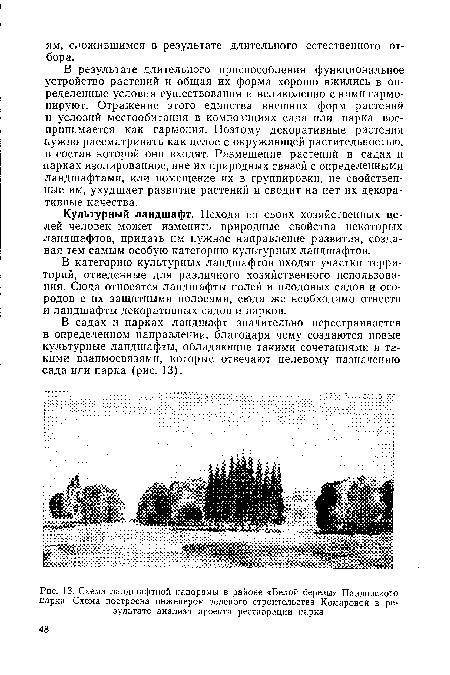 Павловского парка. Схема