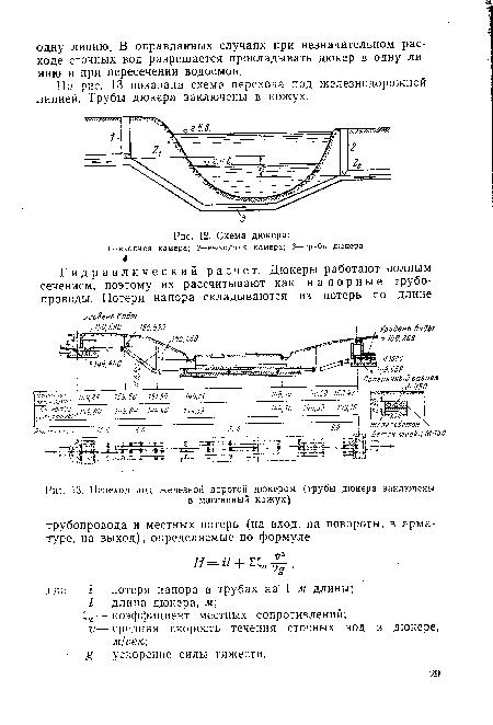 Схема дюкера, Схема дюкера