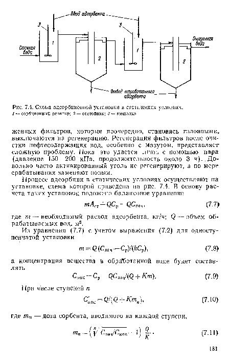 Схема адсорбционной установки