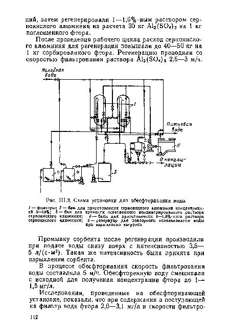 воды, Ш.З. Схема установки