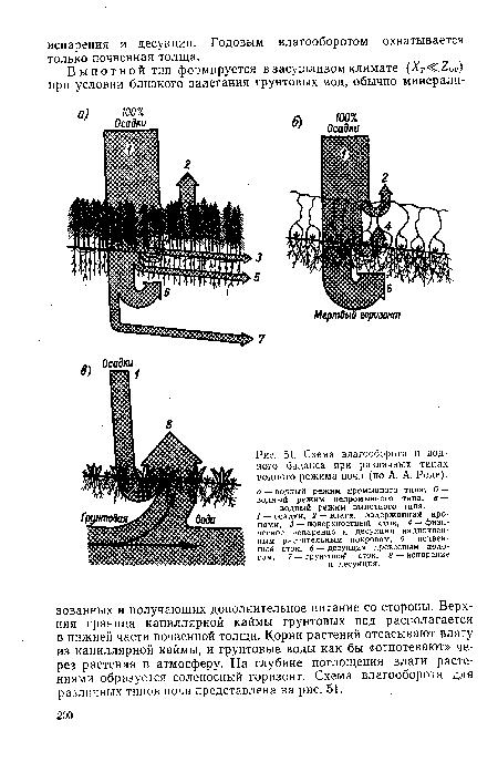 Схема влагооборота и водного